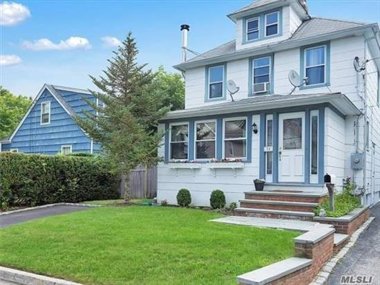 Charming Village Colonial, Lr/Wood Stove, Den,  Eik,  Formal Dr., Rear Entrance To Deck,  Private Fenced In Yard,  3 Bds, 1.5 Bths, Washer and Dryer Included, Wood Floors Throughout, Convenient To Village Of Locust Valley, Restaurants, Library, Beaches, Clubs and Train.