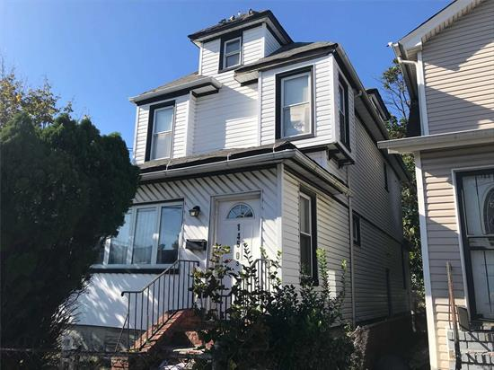 LOCATION, LOCATION, LOCATION, 4 BR 1 FAMILY DETACHED HOUSE, CORNER PROPERTY, FULL SIZE BSMT WITH PRIVATE SIDE ENTRY, FAIR CONDITION! HOUSE NEED SOME WORK!!!. SELL AS IS !!!! OFF THE Van Wyck EXPWY, CLOSE TO ALL TRANSPORTATION, RESTAURANTS AND SO MUCH MORE.