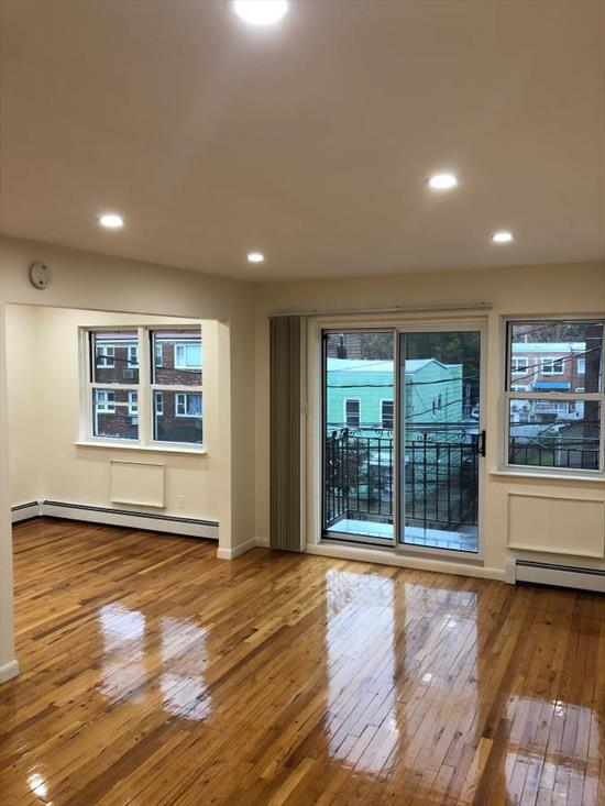 Beautiful Large L-Shaped Studio for Rent in the Heart of Astoria. This Apartment Features Brand New Appliances, Lighting, Windows & Private Balcony. Hardwood Flooring Throughout. Conveniently Located Near Subway, Buses & Shopping.
