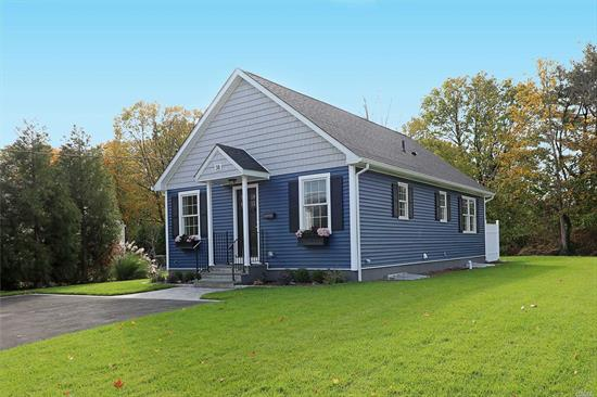 BRAND NEW CONSTRUCTION Cozy 3 Bedrooms, 2 Full Baths, Hardwood floors through out , Samsung Stainless 4 pc Kitchen Appliances, Custom Shaker Style Wood Cabinets, Granite Tops, CAC, High Hats in Cathedral Ceiling, Delta faucets. Large stand up Attic, 9 ft Ceiling in Full Basement with Legal Egress Windows, Outside Cellar Entrance and Low Line Plumbing, Gas Heat and cooking, 200 Amp Service, Samsung Washer and Dryer, IGS,  Andersen Windows, Low Taxes for new construction!