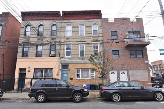 Great Investment in an Excellent Location.!!!! 3-Family Brick House in the heart of East New York, with 9 Bed's, 4 full bathrooms and a full finished basement, Near to Shopping, Cinemas, Parks, schools, close to the Gateway Mall and Transportation that includes train  J, Z, A and C