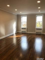 NO BOARD APPROVAL! Immediate occupancy! Stunning all new two bedroom, Doorman,  eat-in kitchen, plus dining area. Top floor, bright open views. Custom details, hardwood floors Available NOW!