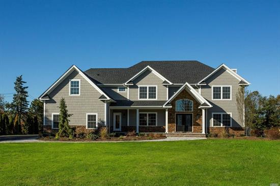 New construction in Half Hollow Hills SD. Stunning 4600 sq. Ft/ Colonial on an Acre w/5 Bedrooms and 4.5 Baths.Dramatic Entry leads to open and spacious layout w/ incredible details & finishes Custom EIK w/ Gas cooking Den w/ Gas fireplace 1st flr suite as well as 2nd flr MasterSuite w/Lux Bath and Lg closet. 2 Bdrm w/ connecting bath 3rd bdrm full bath oversized basement w/ OSE 3 car Garage .A true Entertainers home !!