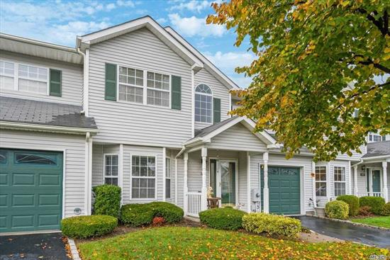 Beautifully maintained & Updated 3 Bdrm, 2.5 Bath Cedar Wood Unit with E.I.K. S.S appl, FRML D/R - LVRM w/ gas F.P. (ventilator) Chair Rails, Moldings - Mstr ensuite w/ Jacuzzi tub WIC and 2 addt'l closets- 1 car gar + private patio. Water, Cable, Internet, Ground Maintenance & Amenities included in common charges