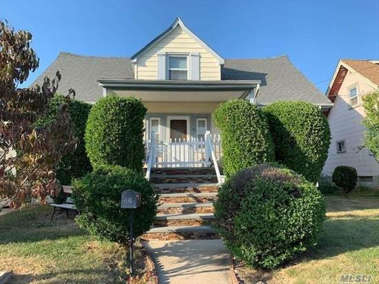 Craftsman Cape with a Large Living Room/Dining Room Combo, Bright and Sunny Kitchen, 4 Bedrooms(Master on 1st Floor), 2 Full Bathrooms, Large WIC bonus on main level, Unfinished Basement for Utilities and Laundry, Private Yard, 1.5 Car Detached Garage. Great Opportunity for the Handy Homeowner.....