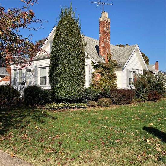 Beautiful 3 Bedroom Expanded Cape in the Poet Section of North Baldwin. First Floor Features Eat-In-Kitchen, Living Room with Fireplace Formal Dining Room, Full Bath and 2 Bedrooms, Second Floor Master Bedroom with Full Bath. Convenient to Shopping & LIRR.