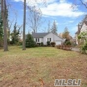 Welcome home to this lovely ranch situated on flat .40 acre. Home offers 2 bedrooms, living room with Fireplace, full bath, eat in kitchen, full basement, 1 car garage. Home has wood floors, new cesspool, roof, and heating system. South Huntington school district. Oil heat/ gas in house for easy conversion. Taxes w/ Star rebate $6037.00. Location you can't beat!