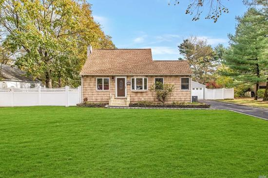 Beautiful Cape in Brightwater Farms with Many Possibilities. Bring Your Fussiest Buyers... Super Clean Home, Brand New Kitchen, New Carpets, CAC, Large Master, 2+ Car Garage, PVC Fencing, Large Yard and Deck Perfect For Entertaining, Full Basement w/Cedar Closets and OSE.
