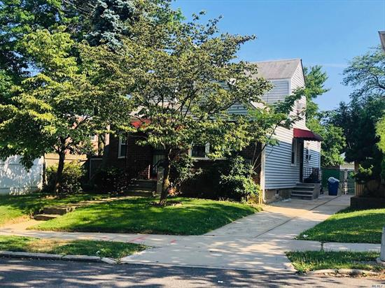 Classic Cape on an oversized 4760 SF lot. Ideal property & location for a major renovation or Rebuild. Sold in As Is condition. 3 BR, 2 Bath, Eat in Kitchen opens to Deck. Full Finished Basement, Detached Garage.