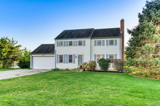 This Expansive North Fork Colonial Home Offers 4 Bedrooms and 3 Full Bathrooms. The home includes a cozy den and a large family room addition. A spacious backyard abutting 22 acres of preserved land awaits. Sleeping arrangements are ample.
