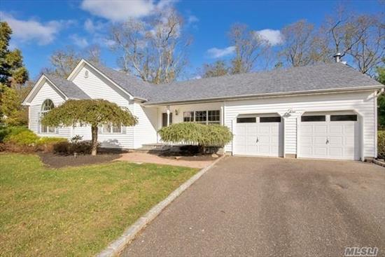 Motivated Seller! Beautiful Remodeled Ranch with Maple flooring. Granite counter-tops, New Kitchen, New LG stove, Frig, Dishwasher-LED lighting, 200 AMP service, CAC, In-ground sprinklers, Attached 2-car garage, Master Bedroom with walk-in closet, Whirlpool tub, New Additional Full Bath, New Gutter Guard, Professionally Landscaped
