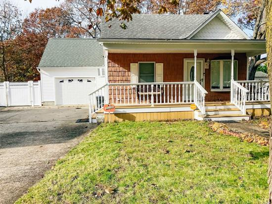This 2 Bedroom Expanded Cape could easily be 3 Bedrooms. Very deceiving home. Move In Ready. This home is great for entertaining with its open layout. Many upgrades. Wood floors, 3 New Air Conditioners, New Washer & Dryer, IGS. Fully fenced in yard. Low Taxes.