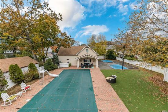 Rare opportunity create your own Family compound in the Harvard section of RVC. Large room sizes, high ceilings plus plenty of mouldings & hardwood floors make this Classic home something to see. The 250' deep property is complete w/ Inground Pool, Full Bball court, Putting green & Turfed area! A great flow for entertaining boasting a large Great Rm w/French doors overlooking the property. The Magnificent Master Suite has sitting area plus Bonus Walk in Closet .Incredible Bonus Space for Inlaws !