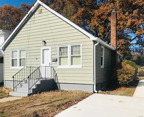 Great Location!!! Totally Renovated Cute & Cozy 3 Br Ranch. Perfect For Small Family. New Kitchen, Stainless Steel Appliances & Granite Counter Tops. New Siding, Roofing & Windows. Gas Heat. Huge Full Finished Basement W/Private Entrance and New Full Bath.