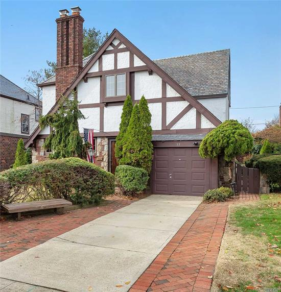 Classic Tudor In The Sought After Mott Section Of The Village Of Mineola. Entry Foyer Leads To Living Room With Gorgeous Stone Fireplace. Formal Dining Room, Den, Eat-In Kitchen And Powder Room Complete The First Floor. Upper Level Offers A Spacious Master Bedroom With Ample Closets. 2 Additional Bedrooms And A Hall Bath With Tub And Stall Shower Complete The Second Floor. Beautiful Brick Patio In Backyard.