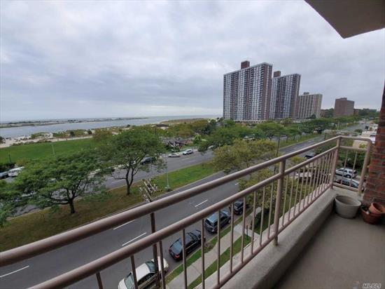 Spacious, well-lit, updated 2-bedroom, 1 bathroom apartment. Terrace overlooks park and beach across the street.