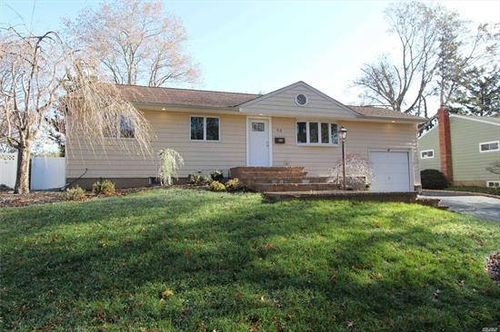 Beautiful 3 Bedroom Ranch With Open Floorplan, Oak Kitchen With Skylights, Gleaming Hardwood Floors, LED Hi-Hats, Andersen Windows, Beautiful Flat Property, New Walkway & Stoop, Young Roof & Siding, Extended Driveway, CAC, In-ground Pool W/ Pavers & New Liner, Much More. Low Taxes!!