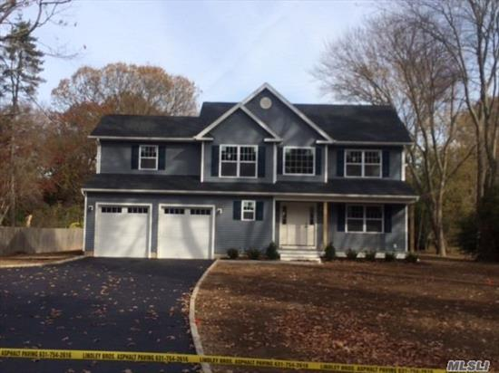 Brand new energy efficient four bedroom colonial built in 2019. Custom millwork and oak flooring. Large eat in kitchen with island, quartz countertops and stainless steel appliances. Energy Star HERS rated home. Will not last. Call today for a private showing.