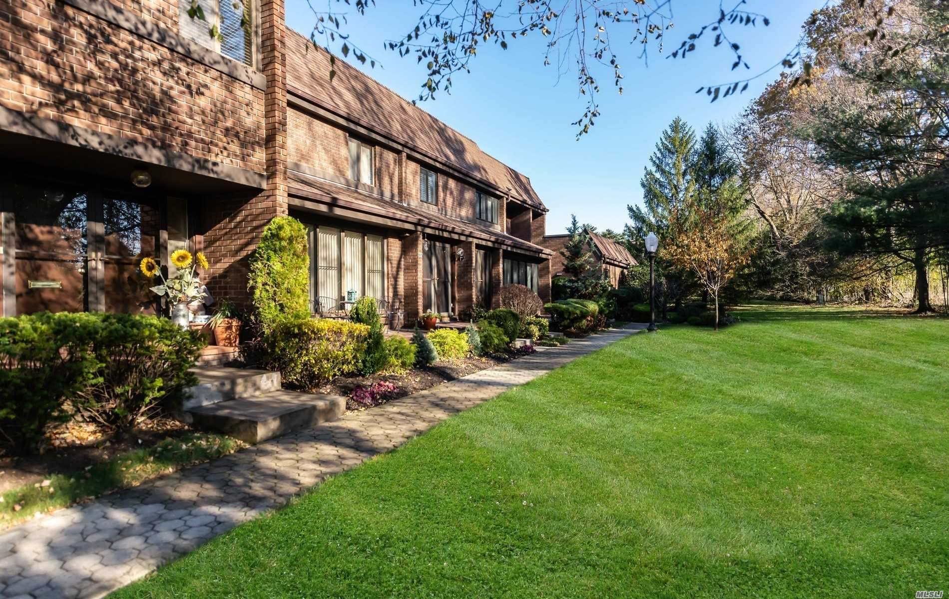 Serene, Sun Drenched, Gracious Dogwood Model is One of a Kind. Sited in a Premier, Picturesque Location Offering the Utmost Privacy. The Elegant Entryway Leads to an Expansive Open Concept Great Room, Ideal for Entertaining. High End Gourmet Kitchen w/Separate Cafe Area. Upstairs Boasts the Private Owners Master Suite w/Lavish Bath Plus Den and Additional Roomy Bedroom. So Many Recent Upgrades! Prime Amenities and Easy Living Await You. End Unit!