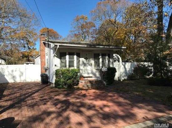 Charming Cottage Ranch on Nice Sized Property with Fenced Yard on Quiet Street, Master Bedroom with Sliders to Large Florida Room, Updated Kitchen and Bath, Sitting Room, Wood Flooring in Living Room, Wood Deck, Large Shed, Paver Driveway, Attic Storage, Updated Gas Burner, Taxes with Star $4489