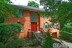DON'T MISS VIEWING This 6000 sq Solid Brick Custom Built Colonial, Elegant Double Level Entrance, Leading Into A Fabulous Living Rm, Entertainment Rm Classy Gourmet Eat-In-Kitchen w/Center Island & Greenhouse Skylights Overlooking Splendid Private Property & Sports Court, Exquisite Master Suite, Full Finished WALK-OUT Lower Level w/ Jacuzzi, Sauna, SteamRm, Shower & PowderRm+, Saddle Rock Elemtary S.D. & South Middle & High S.D., ENJOY Great Neck Est Private Pool Club, Summer/Winter Kids Camps & Police