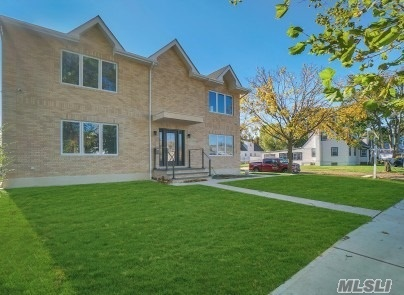 Brick contemporary feature 5 large bedrooms w/3 WIC, 4 fbaths, fully renovated in 2019, New EIK w/a quartz waterfall countertop center island, Modern Italiann interior doors thru-out the 1st and 2nd floor, -2nd Floor has 9ft ceilings, LR w/gas frpl, hardwood floors thru-out, finished basement w/fbth, IGS, CAC 2 zones and 2 zone heating, 60X100 lot size, exterior lights and security cameras system all around the house, 1 car garage, AA Location Close to all transportation, shopping and houses of worship.