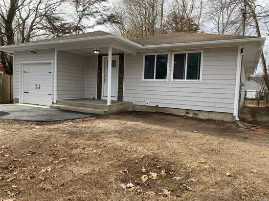 renovated 3 bedroom 2.5 bath ranch features brand new kitchen w/granite counter tops and ss appl, brand new tiled baths, full finshed basement w/full bath w/office or bedroom and large Play area or den, all new windows and new siding.