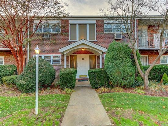 Fabulous 1st Floor, 2 Bedroom Co-Op Offers Updated Kitchen, Living Rom, Dining Room, Updated Full Bath, Plenty Of Closet Space! Sliders to Patio, Parking Space, Laundry in Basement, Close To Farmingdale Village Shops, Restaurants And Lirr.