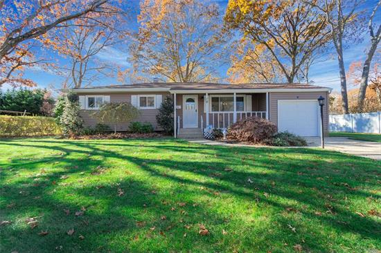 Meticulous Ranch, 3 Bedroom, Full Bath w/ Dbl Sinks, Wood Floors, Front Porch, Formal Dining Room with Sliders to Deck, One Car Attached Garage w/Auto Opener, Shed, CAC, Gas Heat, Full Fin Bsmt w/Full Bath, Attic w/Pulldown Stairs, IGS,  200 Amp Electric.East Islip Schools. This home qualifies for the LIHP grant for down payment assistance!!