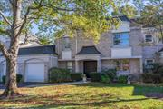 Enjoy the carefree lifestyle of The Greens in Manhasset. This home offers a master suite on the main level plus two generous bedrooms on the second level. Great room features a two story ceiling with sliding doors that lead to the backyard and patio. Finished basement. Amenities include a community pool and tennis. Herricks School District.