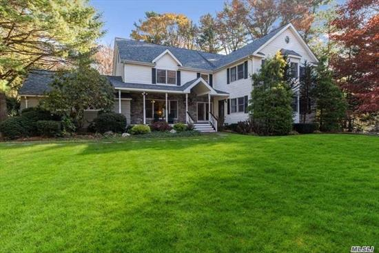 Perfect for extended family! Diamond Colonial with extended wing for family member, New Kitchen, SS Appliance, 4 Seasons Rm, Private Acre w/IGP, Designer Patio, Cul-de-sac, Northport Schools, A Must See!!!