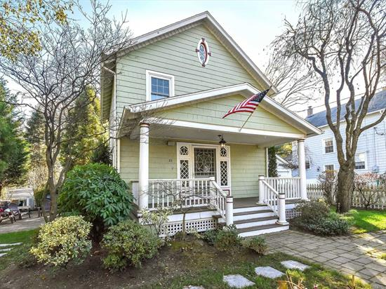 REDUCED OWNER RELOCATING Charming front porch Colonial with 3 bedrooms, 1.5 baths has been tastefully updated in the beautiful Village of Sea Cliff. The property features stainless steel appliances & brand new LG washer & dryer, refinished hard wood flrs, high hat lightning, Nest thermostats & fire alarms, Lutron wireless lightning, Ring Door bell & exterior cameras, 4 Sonos (Alexa controlled) speakers on 1st floor, Sonos control outdoor speakers on porch & side patio. Come see this Smarthome!!!