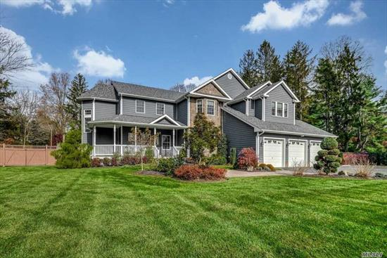 Fabulous Lifestyle! Custom Center Hall Colonial...Authentic Chef's Center-Island Kitchen...Energy Efficient...Gas Heat, European Moldings, Three-Car Garage, Generator For Entire House...Details Throughout! Gorgeous Professionally Landscaped Acre...Harborfields School District...So Many Extras!