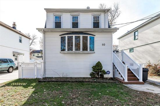 Valley Stream, Gibson Colonial, 3 Bedrooms, 2 Baths, Full unfinished basement, Garage. Open Plan Living & Dining Room w/sliders to 20x26' Trex Deck, 6 year old roof,  Mitsubishi 3 Zone capable A/C, updated plumbing & 200 amp electric service, GE Profile appliances. 40 x 100 fully fenced property. Quiet, tree lined street, close to Parks, Shopping, Restaurants & Schools (Carbonaro Elementary, South HS, ) Choose between Gibson or Valley Stream LIRR stations (35 min to NYC) Motivated Seller!