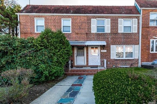 Solid brick 3 bedroom, 1.5 bathroom side hall with finished basement. This home has been lovingly maintained, has bright and spacious rooms, a nice fenced in yard, and is close to the best schools (SD 26), transportation , and shops. PS 173, JHS 216.