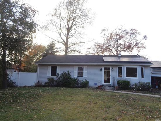 This quaint ranch features 3 bedrooms, 1 full bath, Kitchen, Living Room, Dining Room, Full basement and a 2 car garage located in the Sayville School District. Come see your new home. Great opportunity will not last.