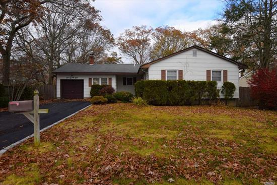 Formal Living rm, formal dining rm, large eat in kitchen with walk in pantry, den with fireplace, master with 1/2 bath, 2 bedrooms, full bath, laundry room. Basement has full bath, work area, walk in closet, and plenty of storage space. Central Air. Dead end street.