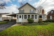 Charming Colonial In Great Neighborhood Of North Bellmore! Gleaming Hardwood Floors Throughout, Living Room Complete With Fireplace, Formal Dining Room, Eat In Kitchen With Granite Counters/Tile Back Splash/Stainless Steel Appliances/Slider To Rear Fenced Yard With Large Deck For Your Outdoor Enjoyment/Entertaining.Front Screened Porch, Unfinished Basement With OSE Entrance(Bilco Drs). Taxes With Star Approx. $10915.03