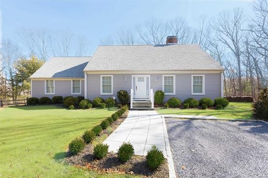 Make This a Vacation To Remember in Your Summer Dream Home by the Bay. Completely New and Totally Renovated. Immaculate & Stylish, Roomy & Comfortable, This Home Sleeps 8 or More, Has Large Open Concept First Floor Living & Entertaining. Master Ensuite, Plus 3 More Bedrooms, Family Room, LR w/ Fireplace, Formal Dining Room. Roll Out of Bed and onto the Beach 200 Ft Away. Enjoy Kayaking, Biking, Swimming, Wine, Shopping. This Home Will Exceed Your Expectations!