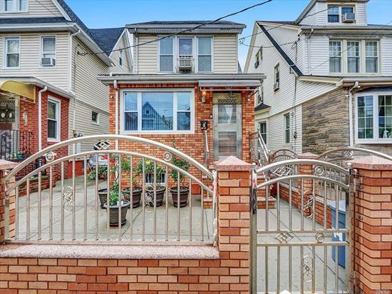 Check out this huge colonial in South Richmond Hill!Walk into a 9 Ft High entry foyer.This well-maintained beautiful house has 4 bedrooms, 2 full baths + 1 half bath.Eat in kitchen w/SS Appliances, black granite counters. Formal dining room.Spacious Master bedroom.2 additional bedrooms. Attic has prayer room, ample storage. Full finished bsmt w/OSE & full bath.1-space detached garage.All new windows, updated kitchen, hardwood floors, trey ceil., gas heat.Can be zoned legal 2-family w/proper permits.