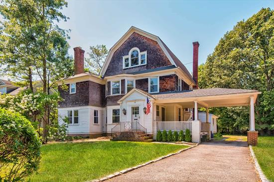 Huge home with tons of potential.. Old World Charm throughout this 4 bedroom 3 full bath home on huge oversized lot.. Hardwood floors, pocket doors, double stairs just to name a few.. If you love character this house will fit your needs..Come make it your dream home.