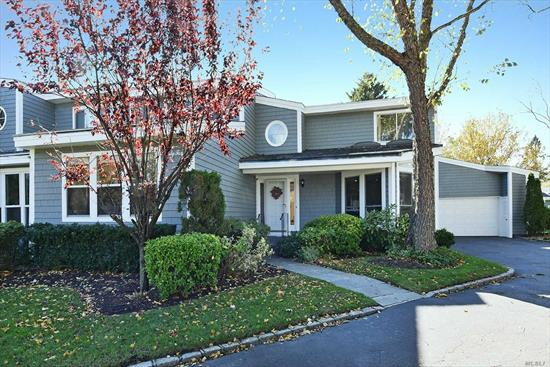 Sunny and spacious townhome w 1st Fl Master Ste and open floor plan in the beautiful gated Spruce Pond community! NEWLY installed gas heat and new CAC! Private deck and lush landscaping enhance the comfort and luxury of this special home!