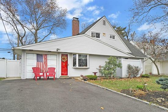 Charming Cape in the W-Section of Wantagh. Mid-Block, Updated Kitchen and Bath. Ceramic Tile, Dual Fireplace, 200 Amp Service. 10yr Furnace, New Oil Tank, 2 Car Tandem Garage, 5 A/C's, Freshly Painted, New 2nd Story Flooring and Carpet. Fully Fenced, M/D By Permit. Over-sized Private Backyard. Professionally Landscaped, 60x113 Seller Grieved Taxes SD#5, Taxes Grieved Successfully