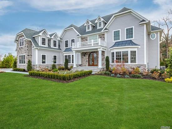 Brand new just built beautiful Traditional Colonial Home in the heart of cul/de/sac of New Luxury community. Pillard stone entrance. Approx. 6 thousand square feet. Open dramatic floor plan. 5 br. 4.5 bths. 9 foot ceiling, Elegant crown molding.Ready to move in!!
