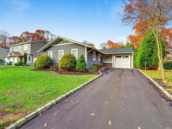 Commack School District Beauty! Diamond open floor plan Ranch. 3 bedrooms 2 full baths w/ Fabulous brand new kitchen w/SS appliances. New Full Baths, New Hardwood floors throughout, entire home freshly painted. CAC. Gas heat and cooking  Plenty of closets and storage throughout. Finished basement w/new washer and dryer. Attached Garage. Nicely landscaped property. Close to shopping, major parkways, schools, train stations. 6 month lease maybe available,