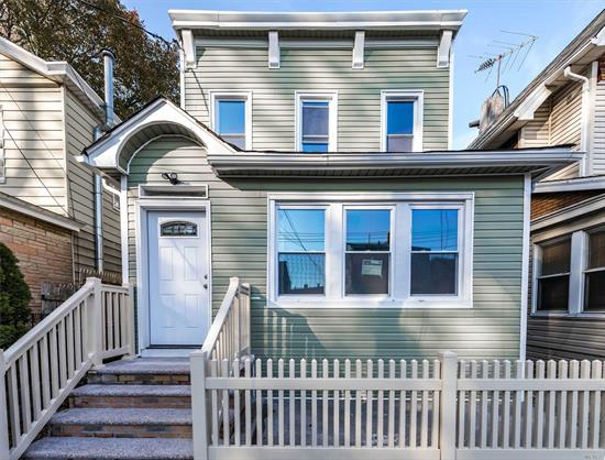 Fully renovated 2 family with 6 bedrooms, new bathrooms, and updated kitchens with stainless steel appliances, hardwood floors throughout. Have to see!