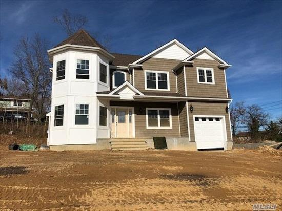 Brand new construction, magnificent Victorian-Style Colonial, secluded Cul-de-sac location, 10 homes being built, N. F'dale, Inc. Vlg, 2900 sq ft (living space not inc. bsmt & gar.), Front Porch, dramatic 2-Story Entry, 1st Flr 9ft ceilings, EIK w/center island, granite, top of the line s/s applncs, open concept to Fam Rm w/gas fpl, MBR Suite w/tray ceiling & breathtaking MBR Fbth, all select red oak h/w flrs, crown moldings, CAC, close to Bethpage State Park & Golf Course, Northside Elementary.