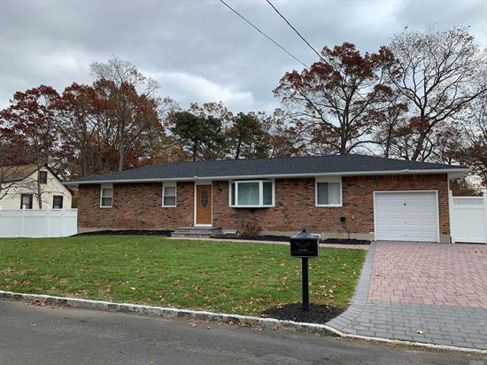 This Expanded Ranch Has Been Renovated And Is Move In Ready. Must See Lovely Open Concept Home. Beautiful White Kitchen With Stainless Steel Appliances.
