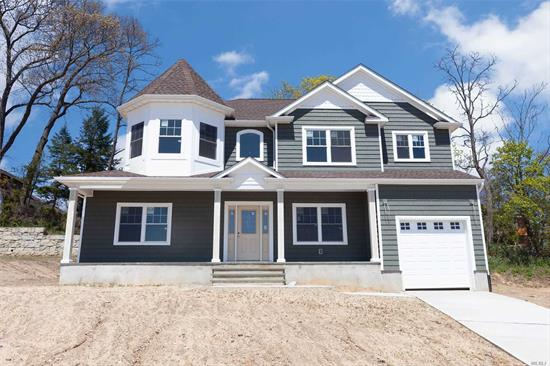 Brand new construction, magnificent Victorian-Style Colonial, secluded Cul-de-sac location, 10 homes being built, N. F'dale, Inc. Vlg, 2650 sq ft (living space not inc. bsmnt & gar.), Front Porch, dramatic 2 story entry, 1st Flr 9ft ceilings, EIK w/center island, quartz counters, top of the line s/s applncs, open concept to Fam Rm w/gas fpl, MBR Suite w/tray ceiling & breathtaking MBR Fbth, all select red oak h/w flrs, crown moldings, CAC, close to Bethpage State Park&Golf Course, Northside Elem