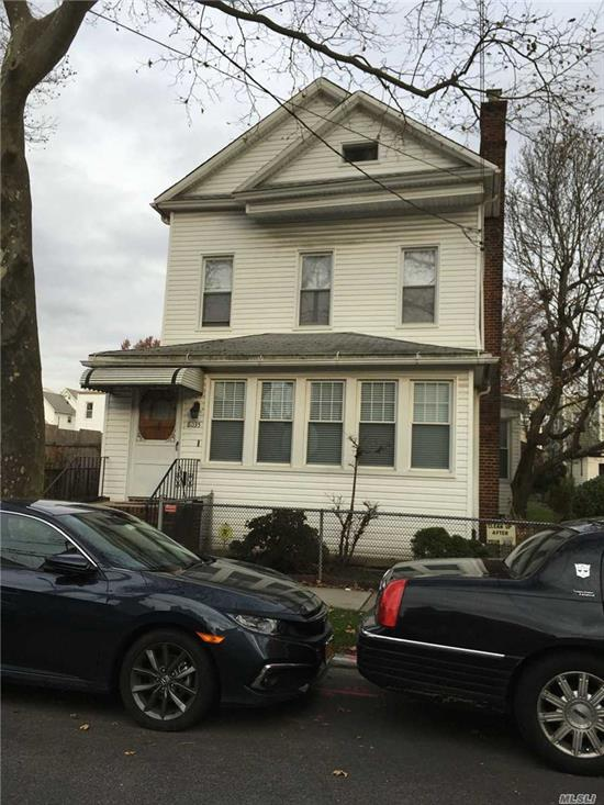 Expansive Colonial with many possibilities, first floor 2 bedrooms could be master suite, hardwood floors, den with fireplace, living room, dining room, full finished basement, 4 bedrooms upstairs, sitting/ playroom area, located in a great neighborhood close to all.